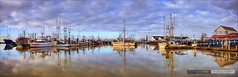 Steveston Harbour Morning [Explored] (Clayton Perry Photoworks) Tags: vancouver steveston hdr winter morning panorama fishing boats richmond reflections explore explored
