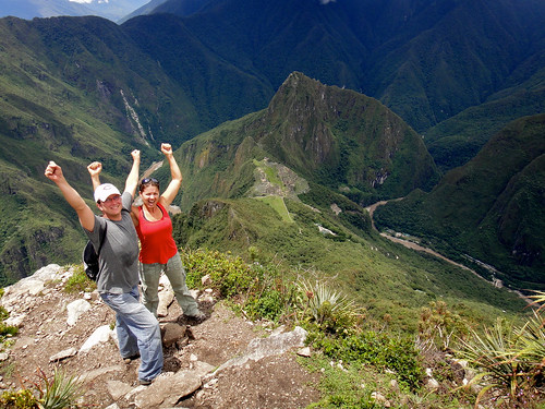 Wendy and Dusty Conquer Monta~na Machu Picchu