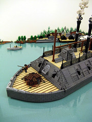 USS Cairo- Steaming Upriver (M.R. Yoder) Tags: toy boat stem war ship lego hobby plastic cairo civil uss moniter gunship moc ironclad