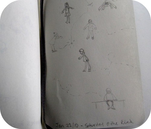 moleskine sketches at the rink