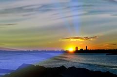 Face to Face (floralgal) Tags: ocean sunset newyork water landscape dusk bluehour dramaticsky longislandsound ryenewyork newyorklandscape ryenewyorklandscape miltonpointryenewyork