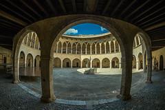 Castell de Bellver (pstani) Tags: balearics castelldebellver europe mallorca palma panasonicgx7 spain fisheye microfourthirds