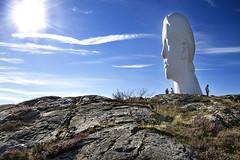 ANNA at Pilane (ClickSnapShot) Tags: ilobsterit anna pilane jaumeplensa head tjrn sculpture art exhibition tourism sweden bluesky summer