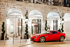 Alfa Romeo 8C Competizione (Valkarth) Tags: auto red paris france car night canon rouge eos noche photo julien italian automobile europe dubai italia photographer mark competition automotive noel it voiture coche arabe saudi arabia alfa romeo l ritz mk2 5d usm orient qt rosso julius nuit f28 italie mk qatar mkii vendome markii ksa photographe valk 8c rits mark2 2470mm qtr moyen 2470 5d2 5dii valkarth fautrat xothum