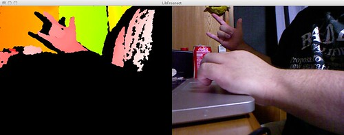 部屋とMBPとコーラと私 with Kinect