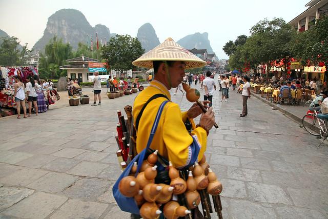 Street souvenir seller in Yangshuo, China