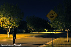 Dead End (Beneath Night's Cloak) Tags: street sky night dark dead lights emo eerie end mygearandme rememberthatmomentlevel1