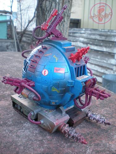"""TEENAGE MUTANT NINJA TURTLES :: """"Technodrome Scout Vehicle"""" { 1993 } KB Toys Reissue // ..detail i   (( 1998 ))"""