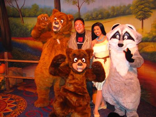 Meeting Koda, Kenai, Pocahontas and Meeko A Disney Family Thanksgiving Feast