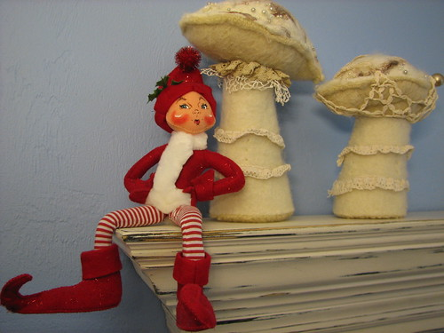 elf with shrooms