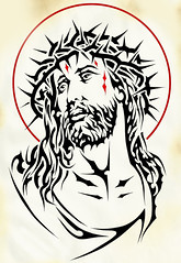 POP STAR (Black Crown . tribal) Tags: white black art star design king christ god good jerusalem jesus tribal pop cruz crown cristo tatoo sant ilustration santo crist deus