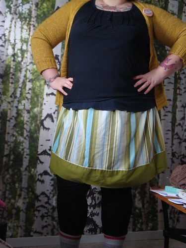 skirt i made out of a vintage sheet