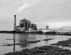 power plant hb black and white (jst images) Tags: california ca blackandwhite bw reflection beach wetlands steamplant powerplant orangecounty oc huntingtonbeach hb wetreflection blackwhitephotos justimages blackandwhiteseascape huntingtonbeachwetlands jasontockey jstimages jasontockeyphotography jasontockeyimages blackandwhitepowerplant huntingtonbeachpowerplant
