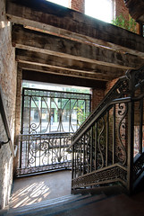 wrought iron stairwell