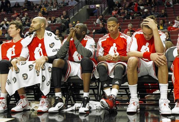 bulls sad bench