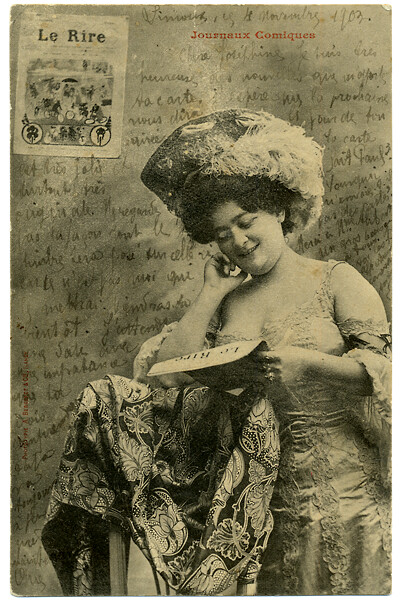 2010_1905_postcard_Josephine Reading Le Rire_400