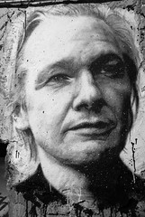 Julian Assange painted portrait - Wikileaks