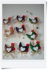 Mobiles Galinhas (Efeltro Borboleta) Tags: mobiles feltro galinhas