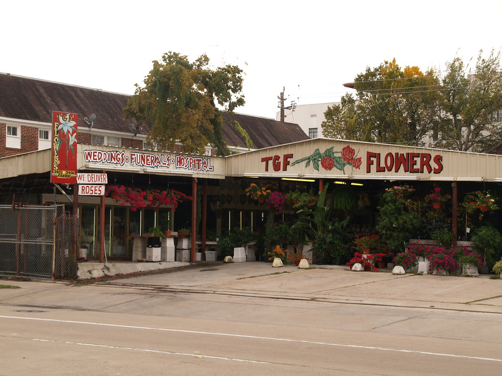 Houston Texas Old Historic Third Ward Near Downtown Houston Texas Flower Shop  2010 Roads Building Signs 3rd Architecture Streets