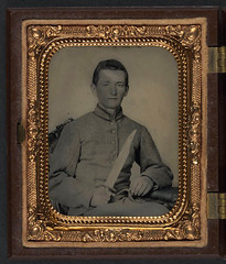 [Unidentified soldier in Confederate artillery uniform with large Bowie knife; badge for 1907 reunion of United Confederate Veterans, Richmond, also in case] (LOC) (The Library of Congress) Tags: soldier rebel knife confederate civilwar artillery libraryofcongress thesouth confederacy rebels csa americancivilwar warbetweenthestates uscivilwar confederatestatesofamerica bowieknife thecivilwar artilleryman xmlns:dc=httppurlorgdcelements11 theconfederacy dc:identifier=httphdllocgovlocpnpppmsca30602