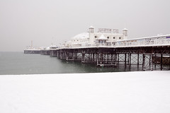 palace (brighton) pier in the snow (lomokev) Tags: uk sea snow cold beach canon eos pier seaside brighton day wither 5d brightonpier palacepier canoneos5d deletetag file:name=101202eos5d0012 image:selection=tn