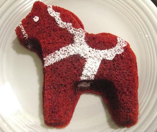 red velvet dala horses