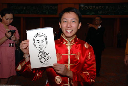 caricature live sketching for Ernst & Young D&D 2010 - 9