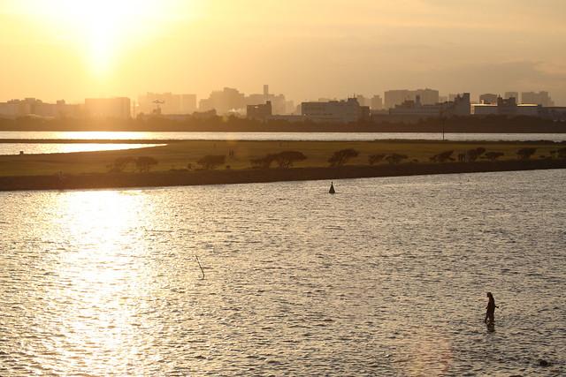 夕方の浅瀬