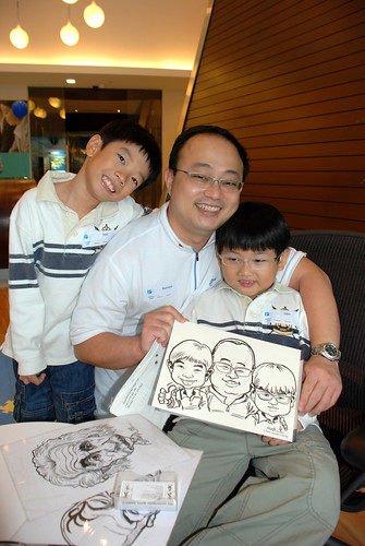 Caricature live sketching for Pan Pacific Hotels Group Family Day -5