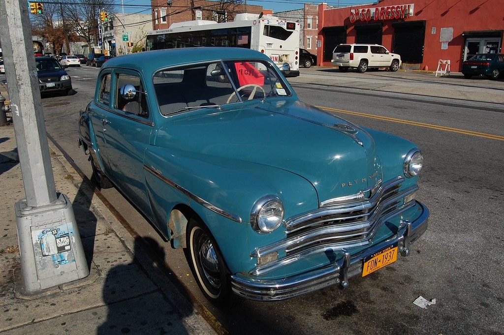vintage car on 108th Street