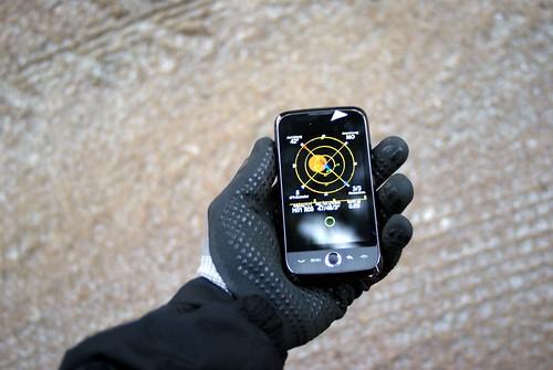 winter test tech outdoor 666 gps stein luft android draussen waldviertel wanderung hoher luftmichaelpollakorg