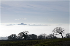 Isle of Avalon (somersetman) Tags: fog landscape glastonburytor somersetlevels isleofavalon