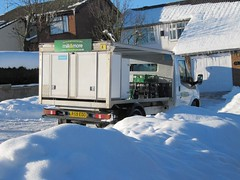 One stuck milk float (janet7r) Tags: snow milkfloat