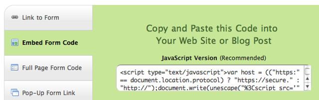 JavaScript Embed