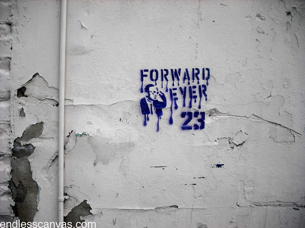 FORWARD EVER 23 stencil - Oakland, Ca