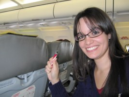 Yo misma en el avión