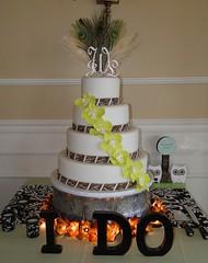 Orchid wedding cake (cakesbyelisa) Tags: birthday park winter wedding baby cake shower stand casa orlando florida rehearsal monogram anniversary cupcake feliz taking grooms plunge fondant deltona