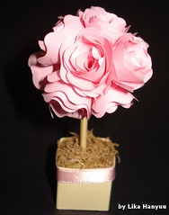 Spiral Rose Quilling - Topiaria