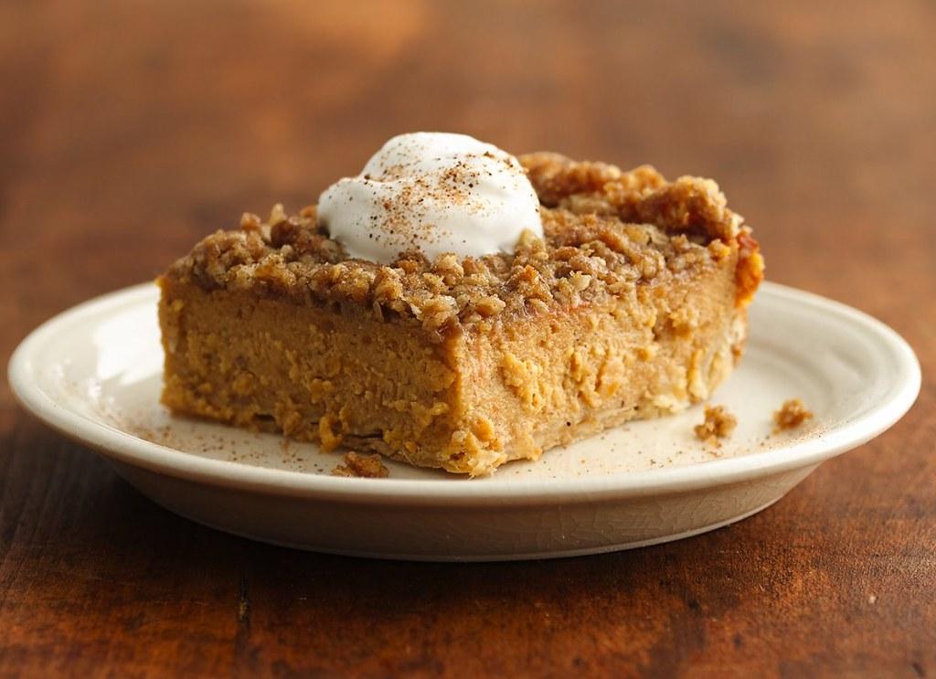 Streusel-Topped Sweet Potato Pie Squares Recipe