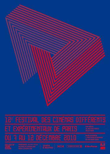 affiche 12ème festival des cinémas différents de Paris