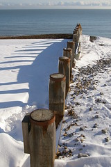 snow, sun, sea (debs-eye) Tags: pattern eastbourne groyne groynes snowandsea