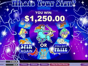free Whats Your Sign slot bonus game