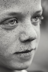 freckles (scoopsafav) Tags: boy portrait bw macro face kids portraits kid eyes teen freckles leighduenasphotography