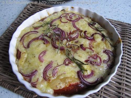 Kartoffel-Fontina-Quiche mit Rosmarin