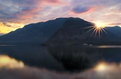 Let There Be Light (NatashaP) Tags: longexposure morning lake mountains reflection landscape dawn austria explore interestingness171 halistatt