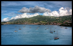 Charlotte Amalie, Saint Thomas USVI (Chad McDonald) Tags: ocean travel cruise sea vacation saint port french islands harbor boat high ship dynamic chad charlotte thomas united virgin sail caribbean states range hdr mcdonald saintthomas amalie usvi charlotteamalie altlantic photomatix