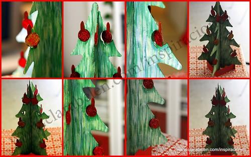 Manualidades navideñas para niños: árbol de Navidad recortable de cartón