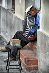Old World (DenaP :)) Tags: blind puertorico muscian accordianplayer