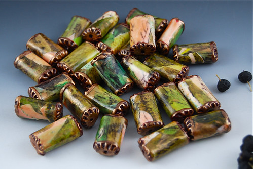 Green Copper Beads Set