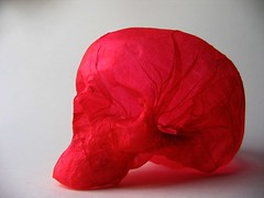 colour collection paper sculpture: pink skull (polyscene) Tags: sculpture art paper paperart polly poly verity papersculpture polyscene pollyverity papersculptures